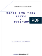 Fajr and Isha