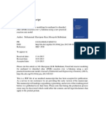 Fixed-bed Reactor Modeling for Methanol to Dimethyl Ether (DME)