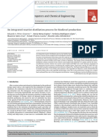 An integrated reactive distillation process for biodiesel production