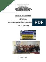 Ayuda Memoria Ucaya 2017-2018