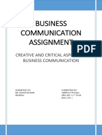 Creative and critical aspects of communication