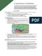 Geo-Strategic Importance of Pakistan..docx