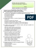 Evaluacion diagnostica 6°