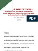 Tenders & Types of Tenders