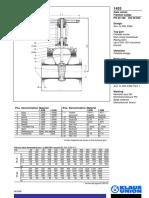 Robinet Sp Pn64 Cf. DIN 3202-F8