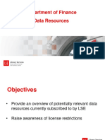 Data Sources for Finance Nov 2018