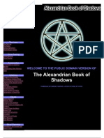Alexandrian Book of Shadows 0595128459