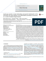 Landscape genetics reveals inbreeding and genetic bottlenecks in the extremely rare short-globose cacti Mammillaria pectinifera (Cactaceae) as a result of habitat fragmentation