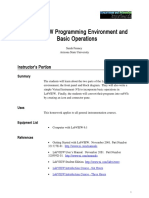 The LabVIEW Programming Environment and Basic Operations
