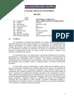 2016-I Syllabus Ing Ambiental Ordenamiento Territorial Jose Sanjurjo