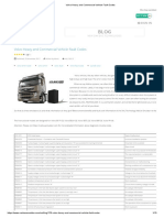 Volvo Heavy and Commercial Vehicle Fault Codes