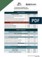 Calendario Académico 2019 Sociales UBA