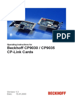 Beckhoff_BA_CP-Link Karten CP9030+CP9035_1.3-GB