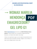 → Marilia Mendonça Tomou Womax? Emagrecedor NATURAL - GEL Lipo Emagrece?