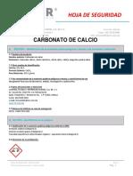 Msds Carbonato de Calcio