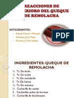 Reacciones de Deterioro Del Queque de Remolacha