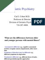 Geriatric Psychiatry Lecture