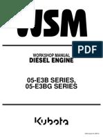 Sm-kubota 05-e3b Series, 05-e3bg Series Diesel Engine Service Repair Manual