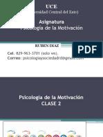 6. Proceso Motivacional - Psicologia de La Motivación