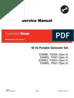Cummins Onan EGMBB P2220c 60 Hz Portable Generator Set Service Repair Manual.pdf