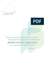 Rapid Evidence Assessment of the Research Literature on the Effect of Performance Appraisal on Workplace Performance Tcm18 16902