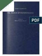 Zambrano, María (El agua ensimismada).pdf