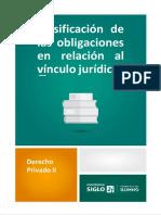 Clasificación de Las Obligaciones en Relación Al Vinculo Jurídico