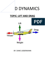 physics project lift and drag