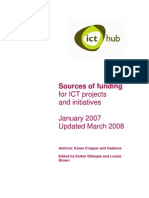 ICT Hub sources of funders 2008