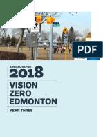2018 Vision Zero Edmonton Annual Report