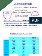 Instructivo Comisiones Introductorio HORARIO 1º Año 2019