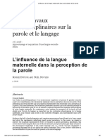 Représentations Grammaticales en Langue Seconde
