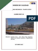Dossier de Calidad de Instalaciones Mecanicas - Llamagas