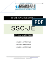 SSC JE Study Material Building Materials