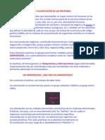 Composición química y clasificación de las proteínas