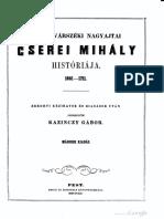 Cserei Mihály kronikaja 1661-1711 (1852)