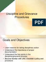 Discipline and Grievance Procedures