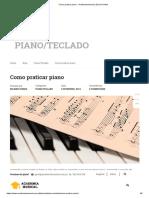 COMO PRATICAR PIANO