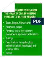 Types of Infrastructures Under the Domain of Civil Engineering Pursuant to Ra 544 as Amended