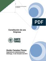 Informe Técnico Constitucion de Una Empresa
