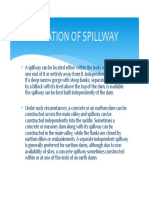 Location of Spillway