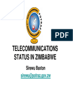Status of Telecommunications Sector in Zimbabwe - Current - POTRAZ