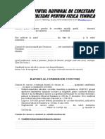 Model Raport Comisie de Concurs