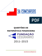 Questoes de Matematica Financeira - Cesgranrio - 2011 - 2013