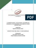 Titulo Preliminar del Código Procesal Penal