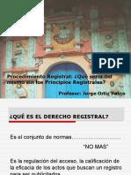 Clase Principios Registrales Jorge Ortiz Pasco