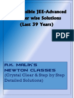 JEE Advanced 39 Years Chapterwise Solved Papers PDF