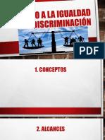 Dereho a La Igualdad y No Discriminación