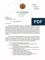 East Ridge PD Chief J.R. Reed Termination Notice