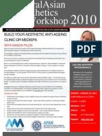 A5M l APAN Austral Asian Aesthetics Certification Flyer